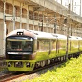 Photos: 緑映える臨時快速リゾート那須野満喫号 宇都宮貨物(タ)通過