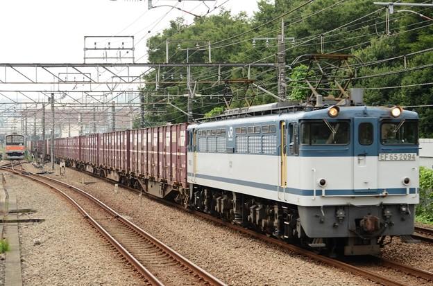 EF65白プレート2094号機牽引高速貨物75レ府中本町通過