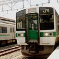 719系3233M快速会津若松行き郡山1番間もなく発車