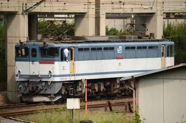 Photos: EF65 2096パンタ上げ