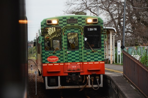 交換列車入線