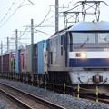 岡山の桃太郎17号機代走高速貨物4093レ宇都宮貨物(タ)間もなく到着