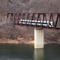 湯西川橋梁を渡るリバティ試運転