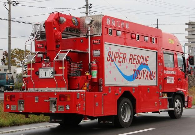 岡山県津山圏域消防組合 lll型救助工作車(後部)