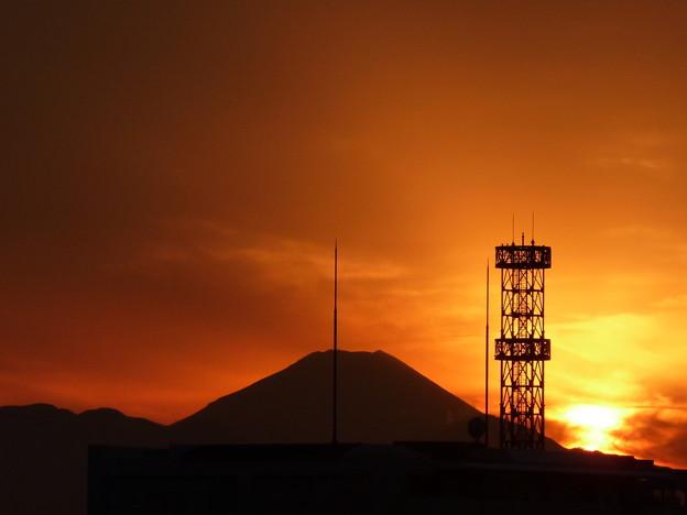 写真: 昨日の夕焼け2