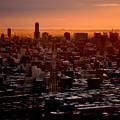 写真: 札幌の夜明け