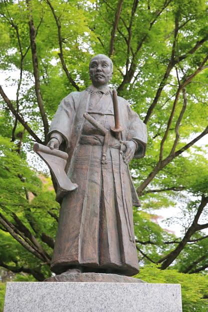 140515-148東北ツーリング・仙台城跡・支倉常長像