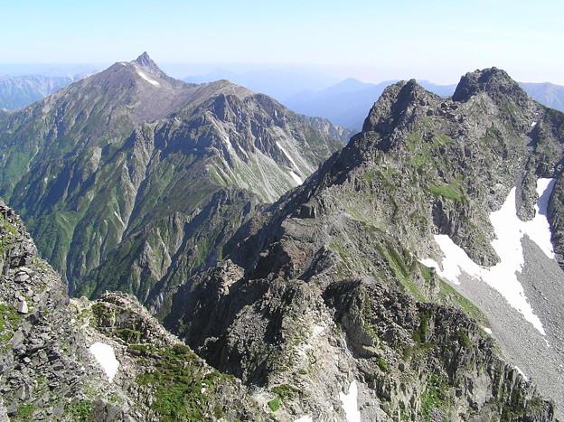 写真: 040723槍ヶ岳と北穂高岳