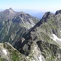 Photos: 040723槍ヶ岳と北穂高岳