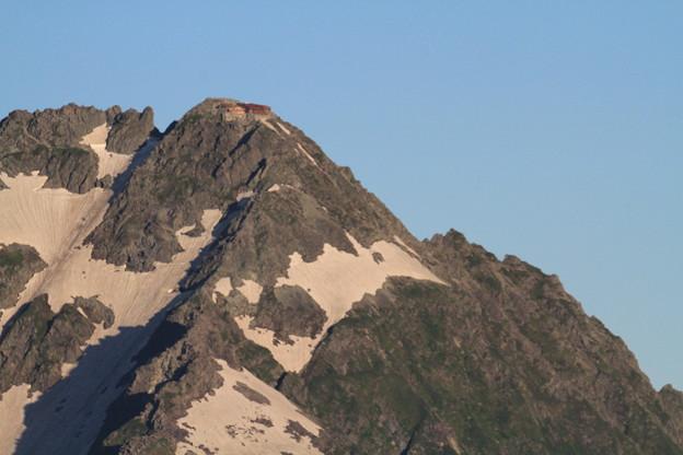 写真: 100722-30蝶ヶ岳登山・穂高連峰と槍ヶ岳(18/30)・北穂高岳