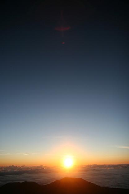 マウナケア 朝日