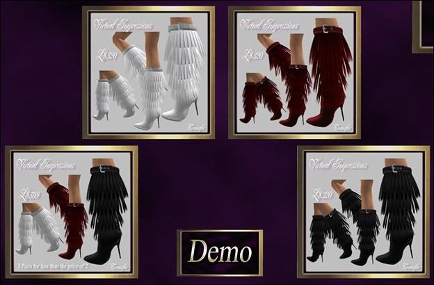 Virtual Impressions, Ashley Fur Boots
