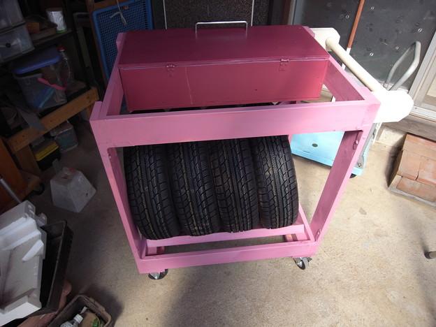 スタットレスタイヤ収納BOX(タント用)