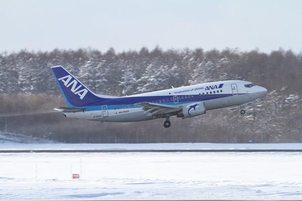 機体除雪後のtakeoff B737-500
