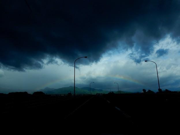 欠けのない虹