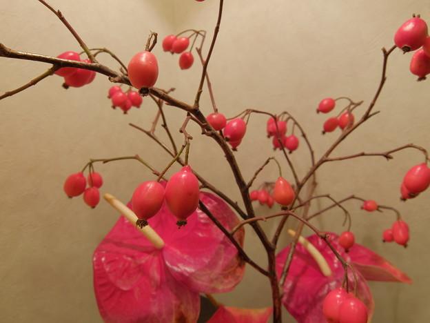待合室の花(暖)
