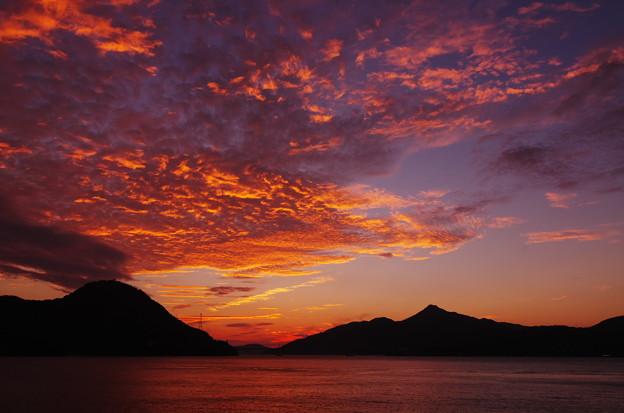 海峡の夕焼け