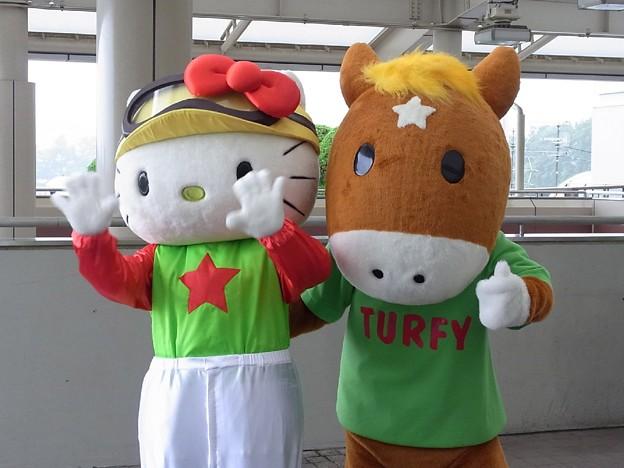 写真: ターフィーさんとキティさん