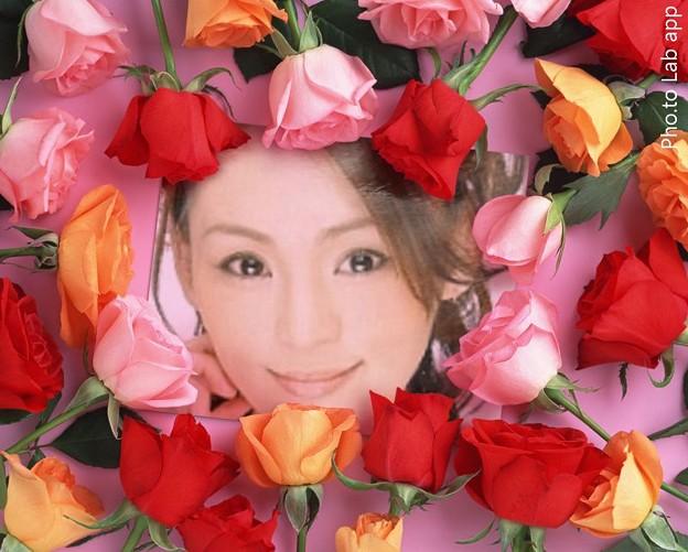 れいれい 画像加工 花フレーム