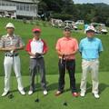 写真: 足利カントリークラブ茂木さん定年記念コンペに参加したアシカンファミリー