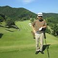 Photos: 足利城ゴルフ倶楽部9番ロングホールのK氏2014.9.23