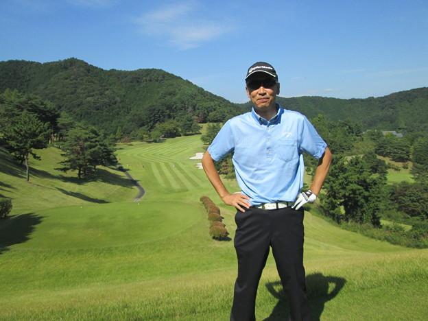 足利城ゴルフ倶楽部9番ロングホールの幹事?2014.9.23