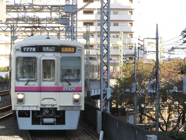京王7000系(7729F) 準特急高尾山口行き