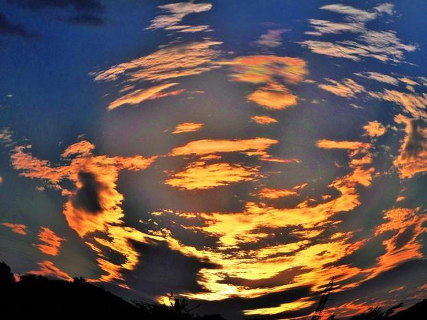 平木山(標高330m)の秋の夕暮れ