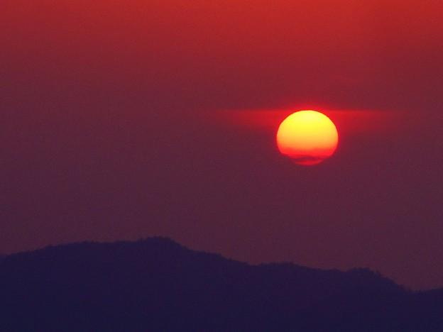 立冬の しまなみ海道の夕陽 in 高見山展望台(標高283m)