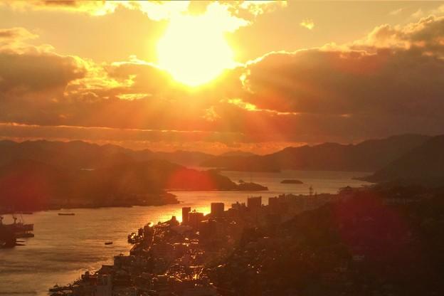 師走の燃える夕陽 in 浄土寺山展望台2016.12.29