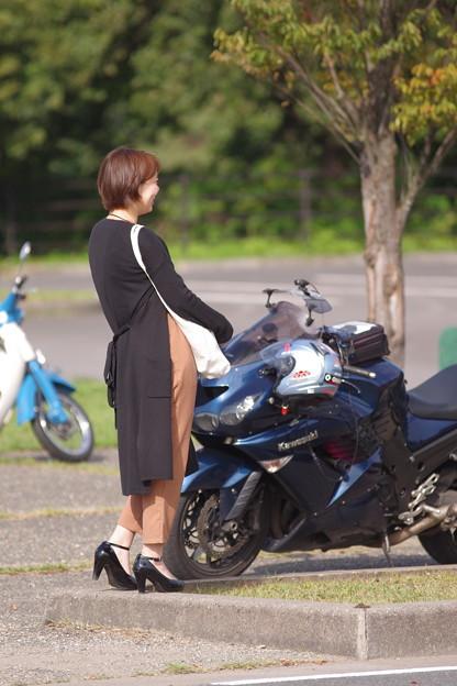 バイクと彼女