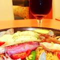 デニーズ ( 成増店 )  グラスワイン & パエリア