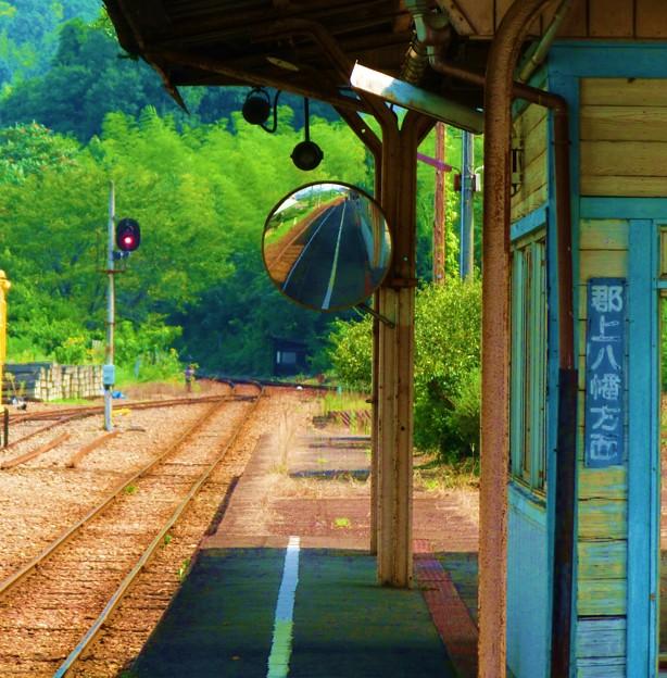 写真: 田舎の駅