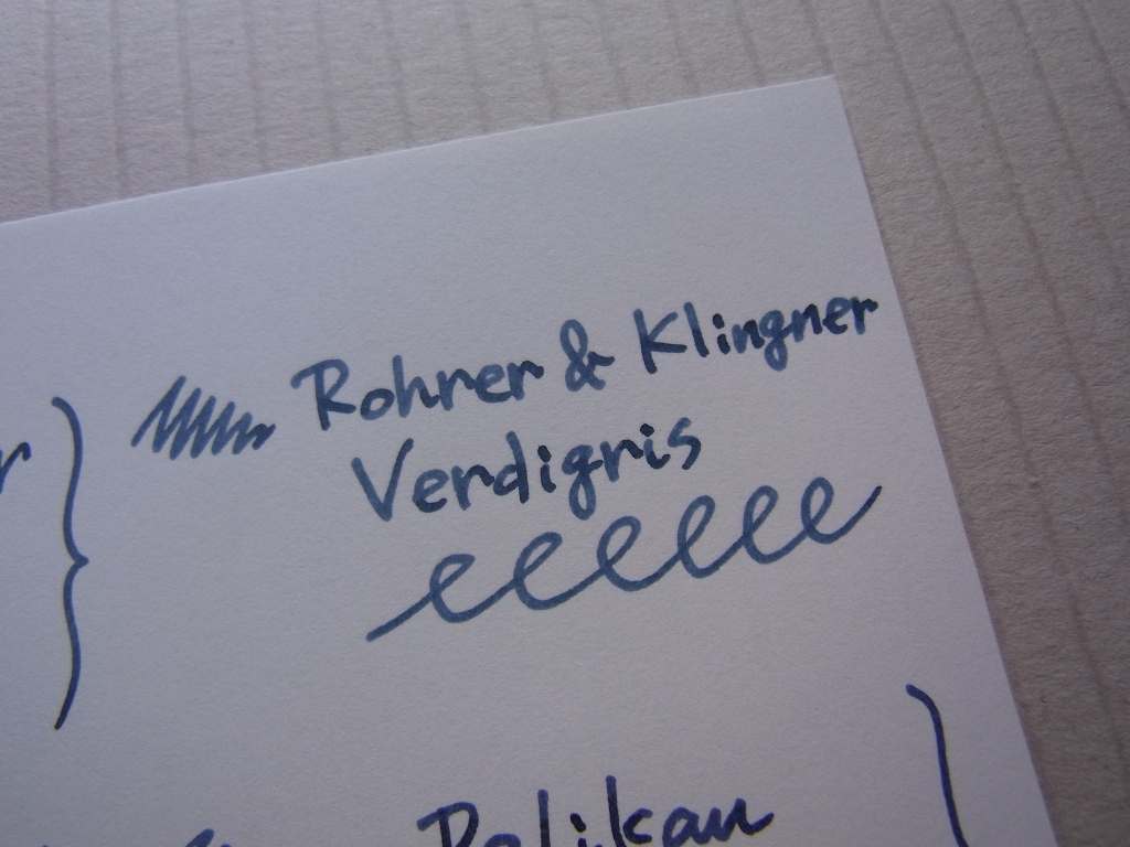 Rohrer & Klingner Verdigris Handwriting