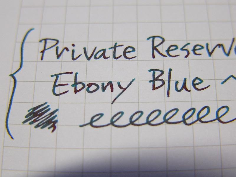 Ebony Blue handwriting