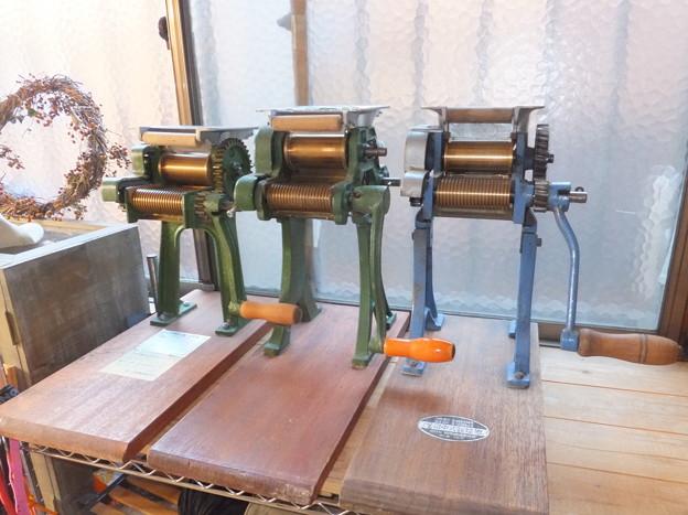 製麺機3台の勇姿