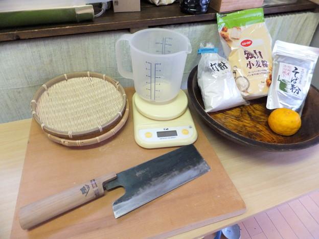 手打ち蕎麦の準備