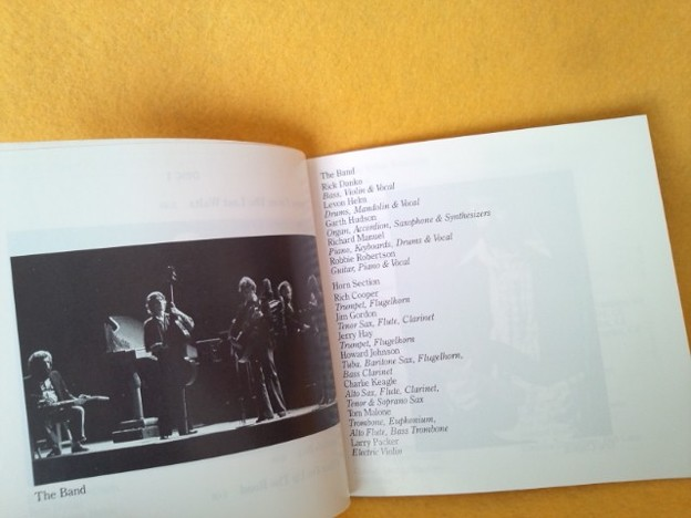 THE LAST WALTZ live CD THE BAND
