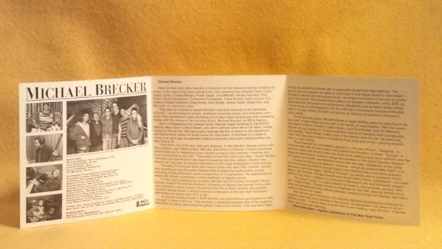 マイケル・ブレッカー テナー サックス CD MCA impulse