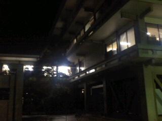 写真: 夜の市役所(7月25日)