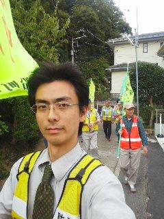 大船町内会パトロール(9月27日、角田晶生)