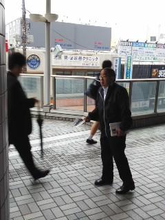 ありがたい応援(10月23日、大船駅)