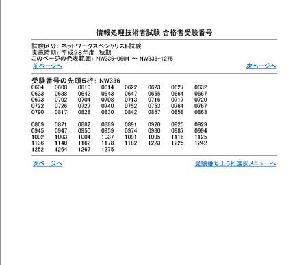 情報処理技術者試験合格者番号