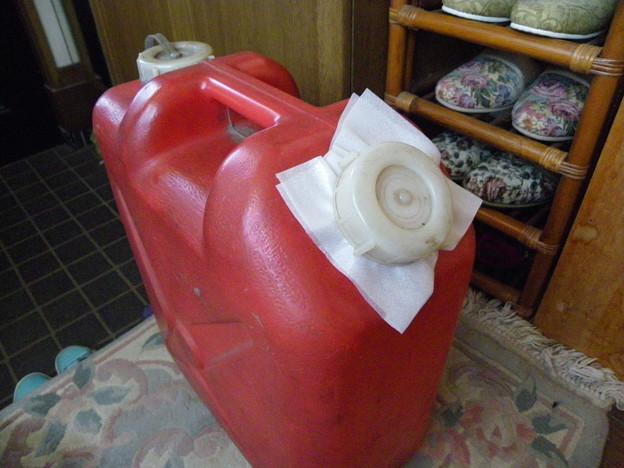 灯油タンク フタ割れ対応