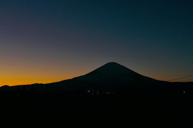 夕 富士 ブルーモーメント