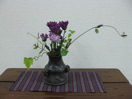 小菊を飾る