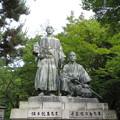 坂本龍馬・中岡慎太郎像(円山公園)