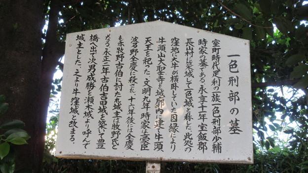 Photos: 一色城/大聖寺(豊川市)一色刑部少輔時家墓