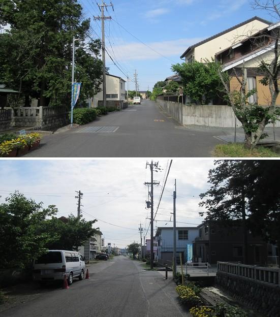 許禰神社前(袋井市)旧東海道