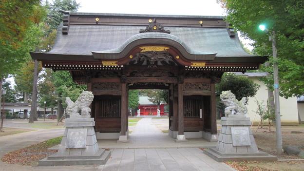 写真: 小野神社(多摩市)随神門